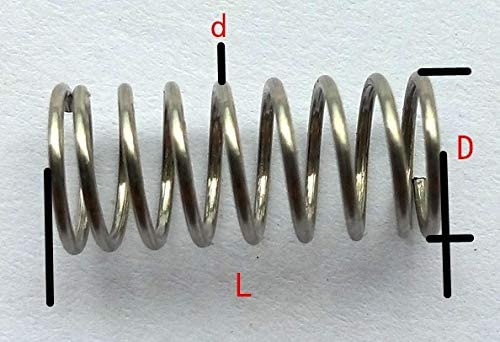 without XXF-tanha 20pcs 0.8mm 0.8 X 12mm Stainless Steel Compression Spring Wire Diameter 0.8mm Outer Diameter 12mm Length 10-50mm Size : 30mm