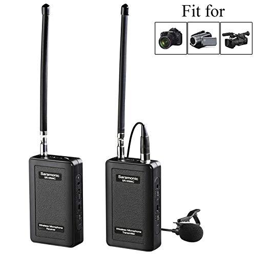 Saramonic SR-WM4C Wireless Lavalier Microphone System for Canon 6D 600D 5D2 5D3 Nikon D800 Sony DV DSLR Camcorders