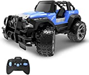DEERC DE42 Remote Control Car RC Racing Cars,1:18 Scale 80 Min Play 2.4Ghz LED Light Auto Mode Off Road RC Tru