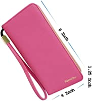 a4f281d094a8 Amaze Fashion Wallets for Women RFID Blocking Clutch Zipper Colorful ...