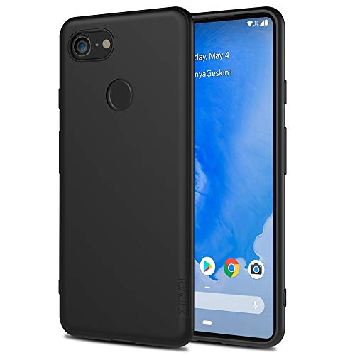 X-level Google Pixel 3 Case, Mobile Phone Case [Guardian Series] Soft TPU Matte Finish Slim Fit Ultra Thin Light Protective Cell Phone Back Cover for Google Pixel 3-Black