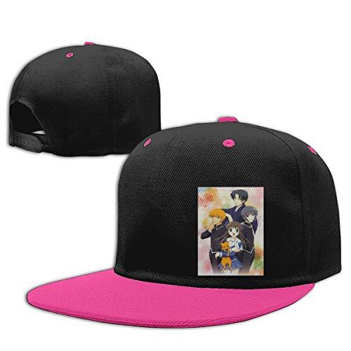 Jamychalsh Fruits Basket Adjustable Baseball Cap Fashion Unisex Soft Hip Hop Hat Pink