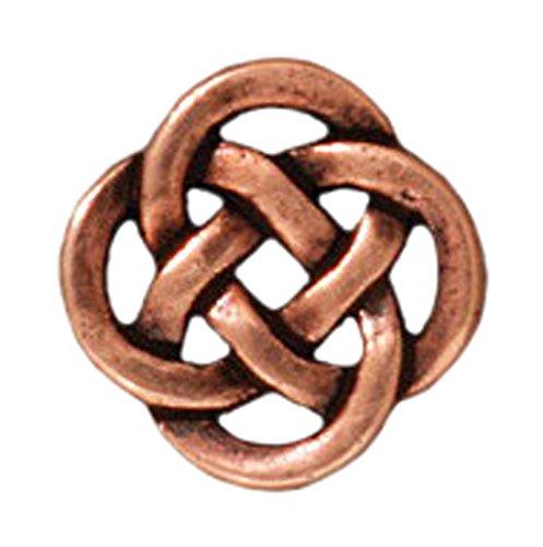 Tierracast Celtic Knot - TierraCast 94-3033-18 Link Celtic Knot, 9.7mm, Antique Copper