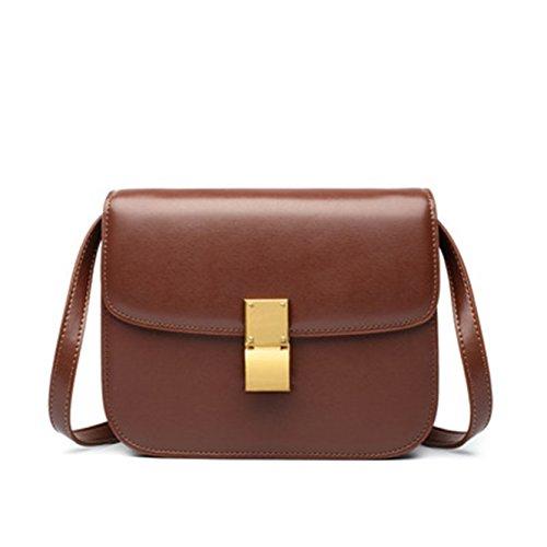 Vino tracolla Borsa Rosso borsa in 20cm selvaggia a a tracolla pelle piccola moda quadrata diagonale ZRxZrU7qn5