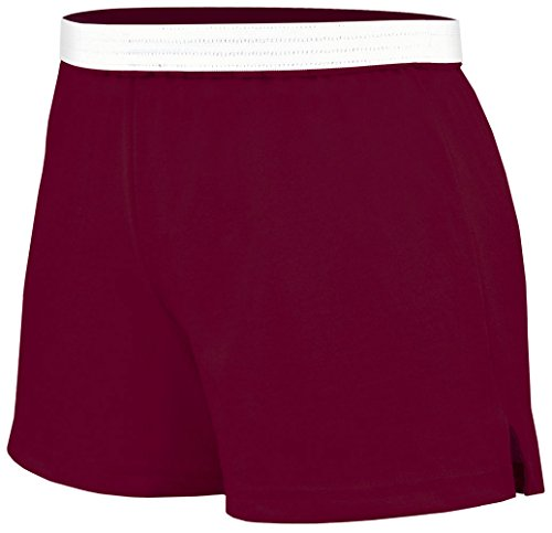 Soffe Juniors Athletic Short, Maroon, Medium by Soffe