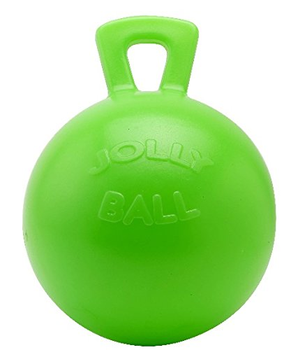 Horsemen's Pride Jolly Ball with Handle Green 10 inch   Apple Scented Rubber Toy