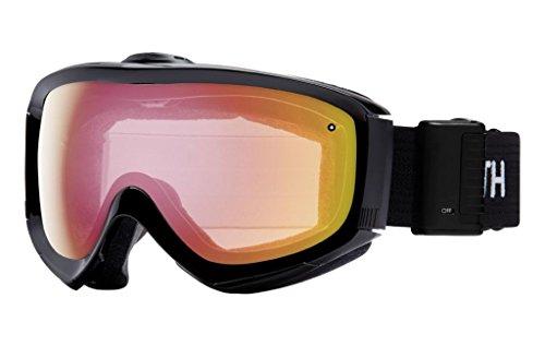 Smith Optics Prophecy Turbo Fan Adult Turbo Fan Series Snocross Snowmobile Goggles Eyewear - Black / Red Sensor Mirror / Medium/Large -