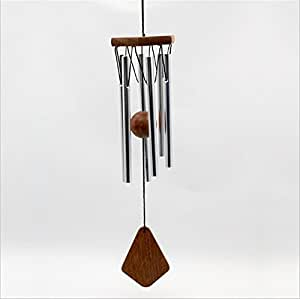 deerbird® Certificado Maderas freundlich viento campana con transparente Tone 6plata metal Tubes Clear Tone Classic Jardín Decoración
