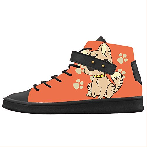 Shoes Custom Le Del Scarpe Women's Scarpe Canvas Fumetto Gatto wfOfxrcqZX