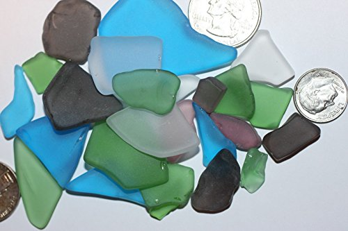 Salty Pelican Jewelry Grade Seaglass Satin Smooth Finish Machine Tumbled Mix of 1 pound