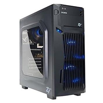 Zalman Z1 Neo Carcasa de Ordenador Midi-Tower Negro - Caja de Ordenador (Midi-Tower, PC, De plástico, Acero, Negro, ATX,ITX,Micro ATX, Juego)