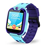 Themoemoe Kids Smartwatch Phone. Kids Music Watch Without GPS with Camera Music 7 Games Alarm Birthday Gift for Kids 3-14 Year Old (Blue)