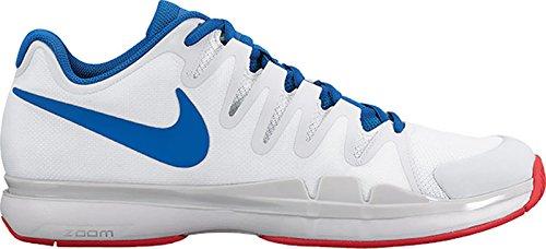 Herren Nike Zoom Vapor 9.5 Tour Tennisschuhe (Winter 2017 Farben) Weiß / Blue Jay - reines Platin