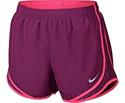 Nike Women's Dry Tempo Running Shorts S Purple