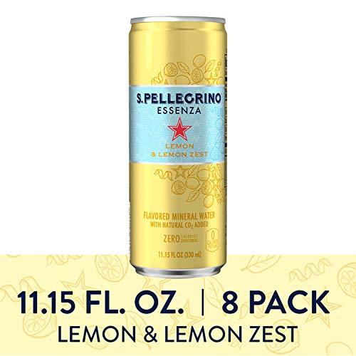 S.Pellegrino Essenza Lemon & Lemon Zest Flavored Mineral Water, 11.15 fl oz. Cans (8 Count)