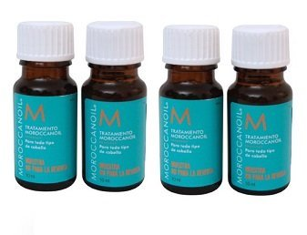 Moroccan Oil Treatment - The Original - For All Hair Types - 0.34oz Travel Size Bottle ((Lot of 4)) by MOROCCANOIL