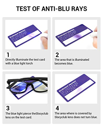 6047a4e2876f Slocyclub Unisex Blue Light Blocking Glasses Oversized Non-prescription  Glasses Round Clear Lens Eyeglasses