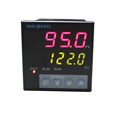 Inkbird F & C Display PID Temperature Controller Thermostat ITC-106RH with K Sensor Probe, Relay Output, AC 100V - 240V