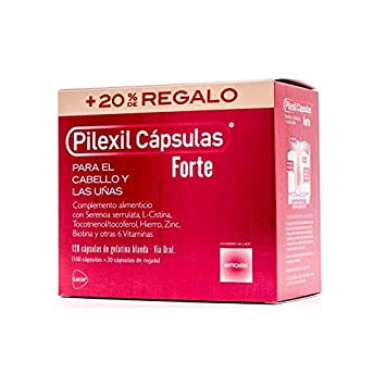 Amazon.com: Pilexil Forte Hair Loss Capsules - Strengthen Hair and Improve Nail Condition - 100 Capsules + 20 Gift Capsules: Beauty