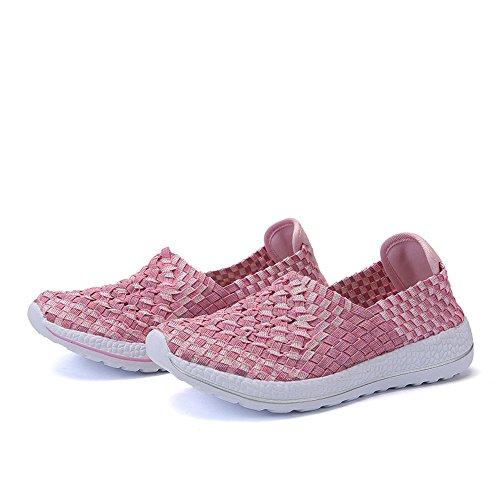 Da Basse Sneakers Pink A Da In Sneakers Running Sneakers Maglia Estive Taglia 35 Donna 40 Basse Maglia RDJM Casual EF5qx4w5