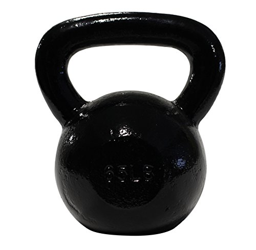 DWC Cast-Iron Kettlebells (50 - 90lbs) for Functional Training and CrossFit Movements, Uncoated (65 LB)