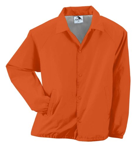 Augusta Sportswear Unisex-Adult Nylon Coach's Jacket/Lined, Orange, ()