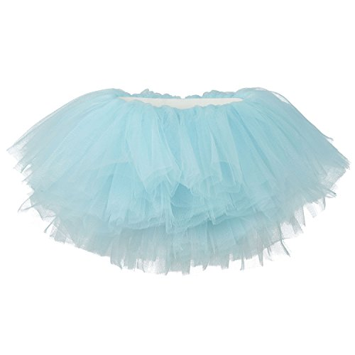 My Lello Baby Tutu Short Ballet Skirt 10-Layer (Newborn - 3mo.) Light Blue -