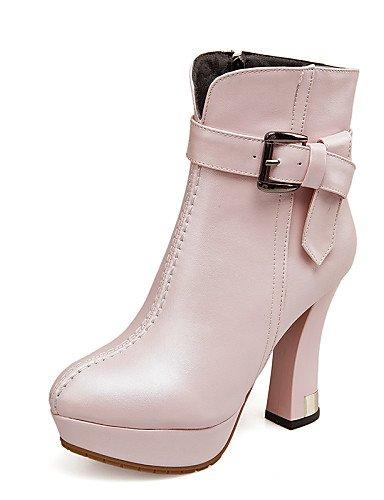 De Punta Xzz Cn41 A Mujer Botas us9 Rosa Eu40 White Eu38 Spool 5 Semicuero Tacón Zapatos Vestido Moda Pink Cn38 Uk5 La Redonda Uk7 Casual Negro Blanco us7 5 X8Xq15r