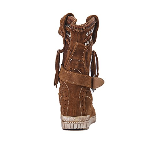 El Vaquero Socket Yara Wornout / Mou, Met Studs En Gesp, Interne Wig 50, Kleur Suède, Gemaakt In Italië, Nieuwe Lente Zomer Collectie 2018