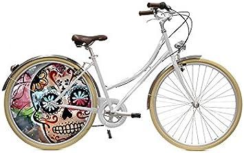 ECOVELO Bicicleta Tapacubo Rueda ciudad personalizado 28 VTC ...