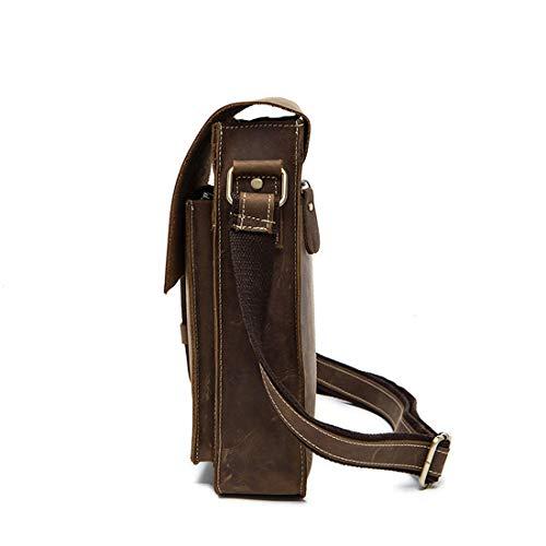 El Black Brown color Bandolera Vintage De Maletín Día Hombre Para Crossbody Olprkgdg Cuero Bolso Messenger AqCBw