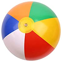 FEDBNET Beach Ball,Colorful Inflatable Children Summer Swimming Toy Beach Toy 16 inch