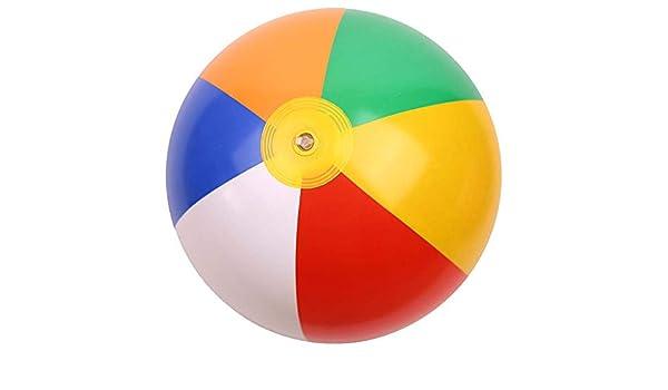 YIDADIAN Yidadan - Balón de Playa Hinchable con Bolas de arcoíris ...