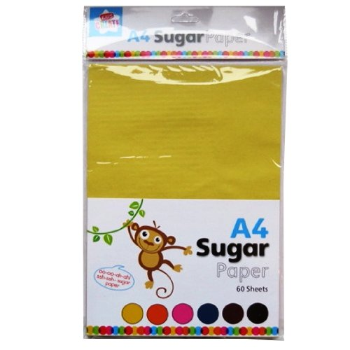 A4 Coloured Sugar Paper - 60 Sheets - 10 of Each, Yellow, Green, Orange, Pink, Blue & Brown (11.7 X 8.3) Anker