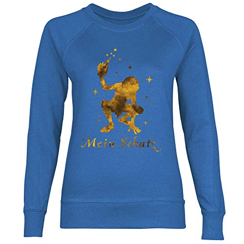 Sweat La Femme Le Shirt Blue Royal Monstre Avec Bouteille g5fq7wPx