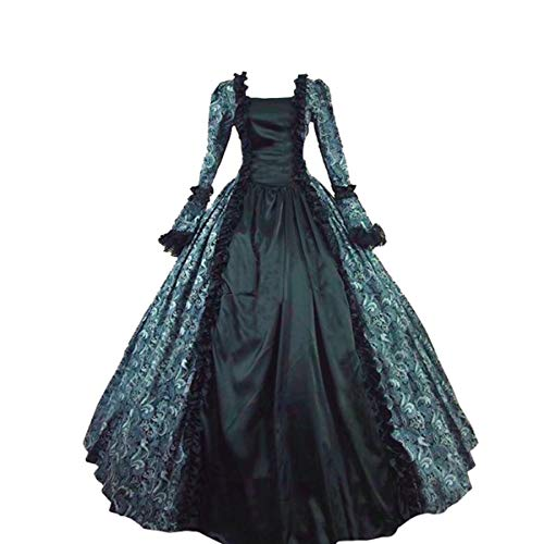 Halloween Costumes Inspiration (Women's Victorian Rococo Dress Inspiration Maiden 1800's Ball Costume/Halloween Costumes/Party Dress (XL:Height65-67 Chest42-43 Waist33.5-35