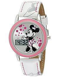 Disney Kids 'mn1022Minnie Mouse reloj con banda de piel blanco