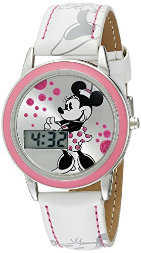- Disney Kids' MN1022 Minnie Mouse Watch with White Leather Band