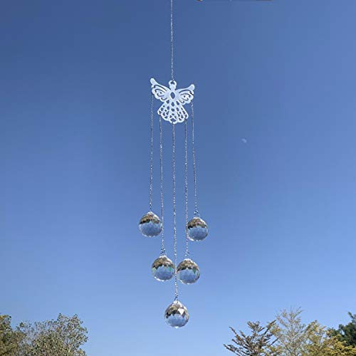 Simunliyg 3 Pcs Colorful Crystals Glass Sun Catcher Crystal Garden Suncatchers Prisms Hanging Ornament Pendants Chandelier for Window Décor, Home, Office, Cars, Wedding, Plants