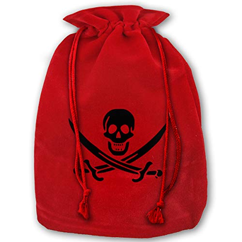 (TPSXXY Pirate of The Dead Large Christmas Drawstring Bag Santa Present Bag Basket Gifts)