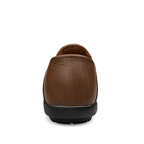 Leather Salabobo Leisure Casual Slip On Mens Holes Driving New Shoes Breathable QYY 9905 Ochre XT18cZrqXR