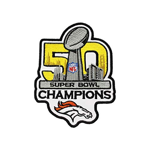 """NFL 50th Super Bowl Champions Denver Broncos Embroidered Patch 4 1/2"""" X 3 1/2"""""""