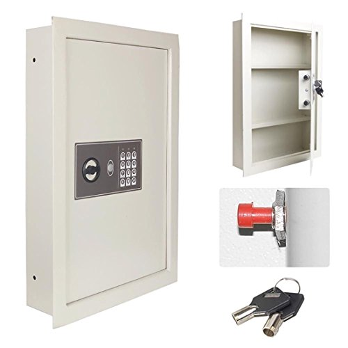 0.8CF Digital Flat Recessed Built-In Wall Safe Home Security Lock Gun Cash Box by Getza