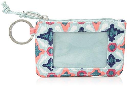 Vera Bradley Lighten up Zip ID Case, Polyester, Water Geo by Vera Bradley