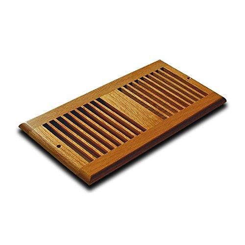 WELLAND 4 Inch x 10 Inch Brazilian Cherry Hardwood Vent Floor Register Side Wall - Wall Cherry Wood