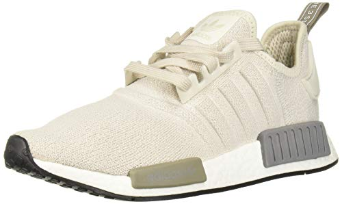 adidas Originals Women's NMD_R1 Running Shoe, raw White/Black, 6 M US