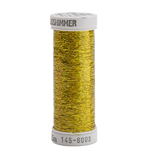Sulky Sliver Metallic Thread for Sewing, 250 yd, Light Gold (Gold Metallic Thread)