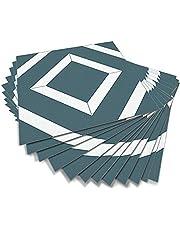 Alwayspon Schil en plak vloertegels, stok op vloertegels, Vinyl vloer kleverige rug sticker, antislip vloertegels zelfklevende sticker stickers, blauw, 15cmX15cmX12st