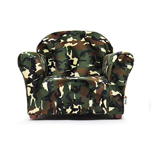 (Keet Roundy Faux Fur Children's Chair, Camo)