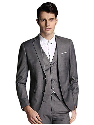 mens-modern-fit-3-piece-suit-blazer-jacket-tux-vest-trousers-dark-grey-xl